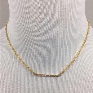 Kate Spade Dainty Sparklers bar pendant necklace